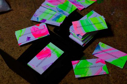 Świecące wizytówki