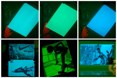 Świecący fotopapier